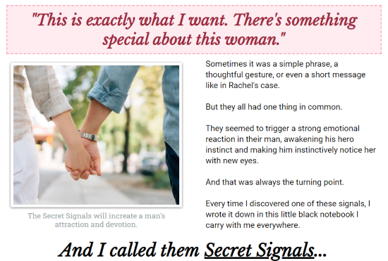 His secret obsession website screenshot